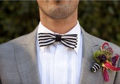 Chic Ways To Incorporate Black & White Stripes Into Your Wedding {Part 2}