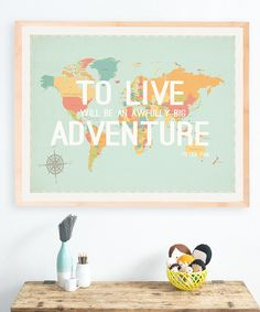 Look at this 'Big Adventure' Poster on #zulily today!