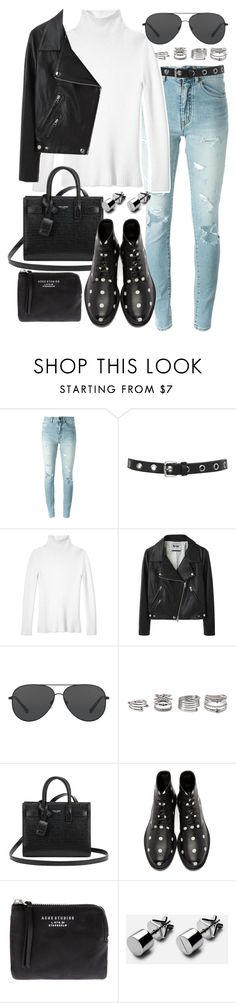 """""""Untitled #19999"""" by florencia95 ❤ liked on Polyvore featuring Yves Saint Laurent, Miss Selfridge, Les Copains, Acne Studios, Michael Kors and Forever 21"""
