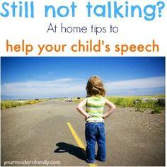 Helping a toddler to speak