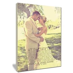 Canvas Photo Art with YOUR Words. Wedding Photo Pictures and Vow Art.... How cool to remember our vows?