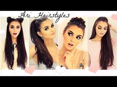 Ariana Grande Hairstyles | Easy & Fast Back To School Looks 2016 - YouTube