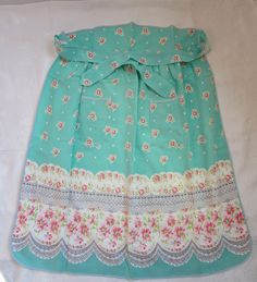 Vintage 1950s Half Apron Tea Time with Front by HistoiredeMode