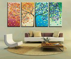 DIY tree wall art   Kids Room Diy Decor Tree Cartoon Colorful Wall Art Decal Sticker