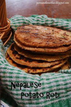 Nepalese Potato Roti (Aloo Roti) - I Cook Different Indian Food Recipes, Vegan Recipes, Cooking Recipes, Ethnic Recipes, Nepalese Recipes, Fun Cooking, Asian Cooking, Nepal Food, Indian Dishes