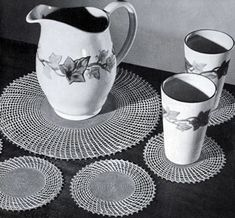 Lemonade Set crochet pattern from Ideas for Gifts, originally published by Coats & Clark, Book 255, in 1949.