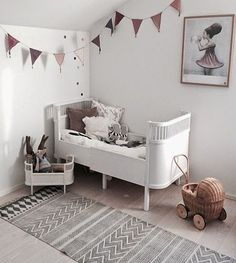 Pretty space and gorgeous colours for a girls room