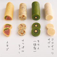 Cute Snacks, Cute Desserts, Asian Desserts, Dessert Cake Recipes, Easy Cookie Recipes, Sweets Recipes, Japanese Cookies, Japanese Sweets, Kawaii Cookies