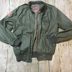 14737f258 Vintage John Weitz By FABIL N.Y.C. Hong Kong Military Inpsired Bomber Jacket  Med