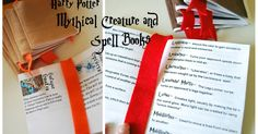 Link to the SPELL BOOK download is FINALLY fixed!   Print away!!!    Oldest's Harry Potter party required of course some actual school bo...