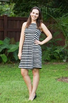 Stitch Fix Stylist: love the cut and pattern of this THML Betsey Abstract Stripe Fit & Flare Dress