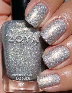 Zoya - Alicia Silver Nail Polish, Zoya Nail Polish, Nail Polish Colors, Nail Nail, Trendy Nails, Cute Nails, Hair And Nails, My Nails, Nail Polish Collection