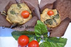 muffins basilico, melanzane, nocciole