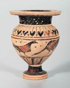 Ceramic black-figure lydion. Greek. Archaic Period, c. 540–530 B.C.   Museum of Fine Arts, Boston