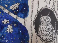Соня 8 лет.  Гуашь, чёрная гелиевая ручка, чёрный маркер. фото 3
