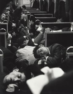 People sleeping on a night train in Japan, 1964. © Nicolas Bouvier,Musée de l'Elysée, Lausanne