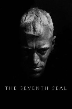 The Seventh Seal is a 1957 Drama, Fantasy film directed by Ingmar Bergman and starring Max von Sydow, Gunnar Björnstrand. Max Von Sydow, The Criterion Collection, Great Films, Good Movies, Movie Stars, Movie Tv, Werner Herzog, The Seventh Seal, Ingmar Bergman