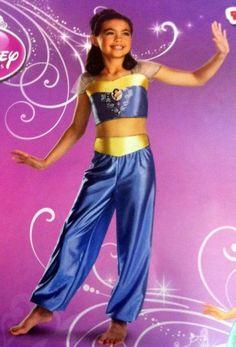 Jasmine Halloween Dress Up Costume Girls Small 4-6 Disney Princess Dress #Disguise #CompleteCostume