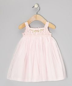 Take a look at the Victoria Kids Pink Crocheted Tulle Dress - Infant & Toddler on today! Fashion Kids, Baby Girl Fashion, Little Girl Dresses, Girls Dresses, Flower Girl Dresses, Victoria Kids, Whimsical Dress, Infant Toddler, Toddler Girls