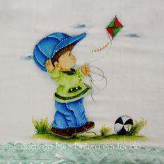 Coisas da Nil - Pintura em tecido: A pipa voa...voa..voa!!!!