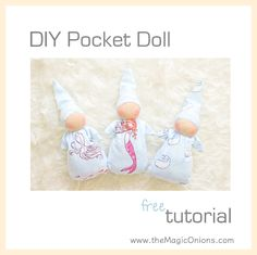 FREE Pattern to make a beautiful WALDORF POCKET DOLL. Follow this step-by-step DIY Tutorial to make your child a delightful WALDORF DOLL that she'll love forever.