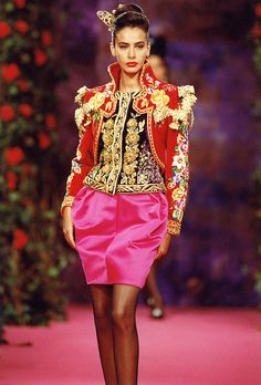 Christian Lacroix Haute Couture Fall-Winter 1990 ...12 years later Dolce & Gabbana....
