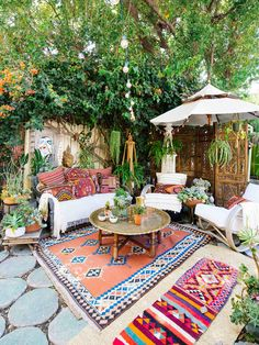 Our Favorite Patio Spaces + Tips to Bring Boho Vibes to Outdoor Living