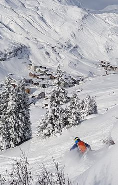 Powder to the people! Ski powder runs directly from mountain into the village! Ski in - ski out!