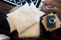 "Dog Silhouette Pillow: home décor tutorial  posted by Erin, of ""House of Earnest"". Learn how to create a personalized home accessory that looks like it came from an expensive boutique!"