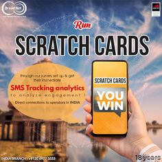 Run scratch cards through our survey set up & get their immediate SMS Tracking analytics to analyze engagement ! Email: sales@broadnet.me India branch: +9120 6977 3333 #SMS #smsmarketing #survey #digitalmarketing #India #NewDelhi