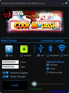 Cooking Dash 2016 Hack iOS Android Cheats Download Cooking Dash 2016 Hack iOS Android Cheats only at: http://devilhackz.com/07/cooking-dash-2016-hack-ios-android-cheats/  Cooking Dash 2016 Hack iOS Android Cheats – Unlimited Coins, Unlimited Gold, Unlimited Supplies, Double Damage. For All iOS and Android Devices. Works without Jailbreak or Root needed. Free in Use Cooking Dash 2016 Hack.   Cooking Dash 2016 Hack iOS Android Cheats Options: •	Unlimited Coins Cooking Dash 2016 •	Unlimited…
