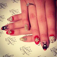 Świątecznie <3 #eclair #eclairnail #nails #nailart #nailporn #nailswag