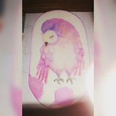Primera acuarela Watercolor Búo