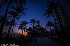 Dusk at Waikiki Beach