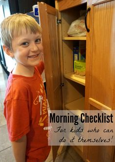 Carter's Morning Checklist: help your big kid get him or herself ready in the mornings, with a printable!