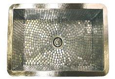 Amazing tiled sink