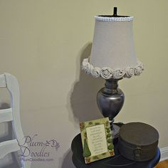 Another use for a trash can- a Lamp Shade ! Great Tutorial by @Sheila G @ Plum Doodles