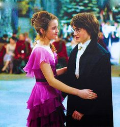 Hermione and Harry and their beautiful adolescent awkwardness.