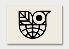 Modernist Bird-themed Logo, designer unknown
