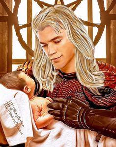 Rhaegar Targaryen and Prince baby Jon Targaryen