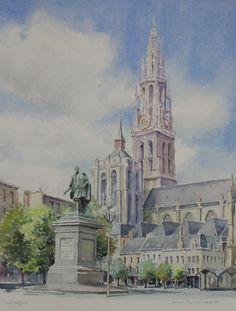 Aquarel van Surod, Antwerpen