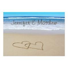 Shop Beach Love Hearts wedding invitation created by by_jasmine. Beach Invitations, Nautical Wedding Invitations, Elegant Invitations, Wedding Invitation Design, Invite, Love Heart Drawing, Simple Wedding Cards, Wedding Ideas, Card Wedding