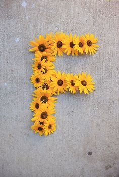 Letter F for Flowers by Pink Sherbet Photography, via Flickr