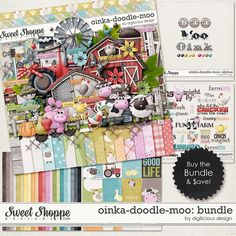 {Oinka-Doodle_moo} Digital Scrapbook Bundle by Digilicious Design http://www.sweetshoppedesigns.com/sweetshoppe/product.php?productid=28633&cat=0&page=1 #digiscrap #digitalscrapbooking #digiliciousdesign #oinkadoodlemoo