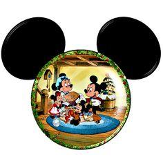 Cabezas de Mickey con personajes Disney y no Disney. 13 modelos diferentes.