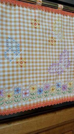 Broderie Suisse, Chicken scratch, Swiss embroidery, Bordado espanol, Stof veranderen...: