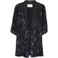 DAY Birger et Mikkelsen Sequined silk blazer ($549) ❤ liked on Polyvore
