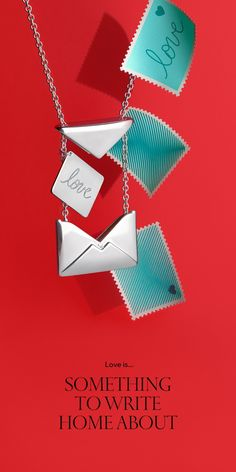 Send our love. Tiffany Charms Sweet Nothings love letter pendant in sterling silver.