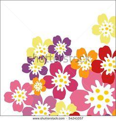 stock photo : multicolor fantasy flowers