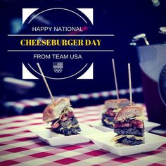 Red, White, and Cheese! Happy #NationalCheeseburgerDay   teamusa's photo on Instagram